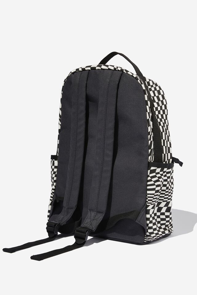 Alumni Backpack, WARP CHECKERBOARD BLACK