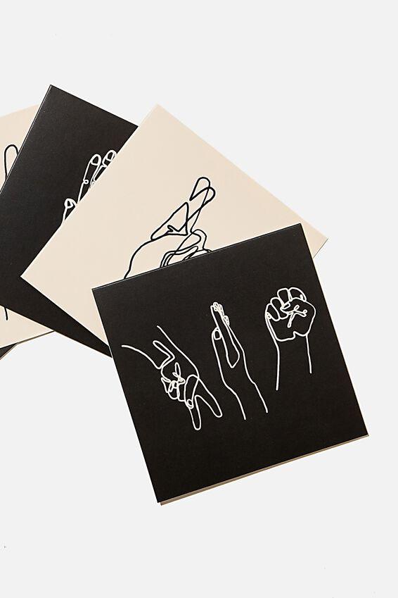 Blank Card Set 10 Pack, HAND SYMBOLS
