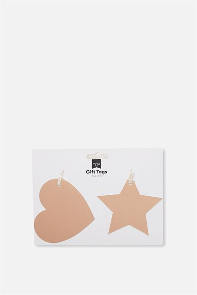Gift Tags Set 10, GOLD HEART & STAR