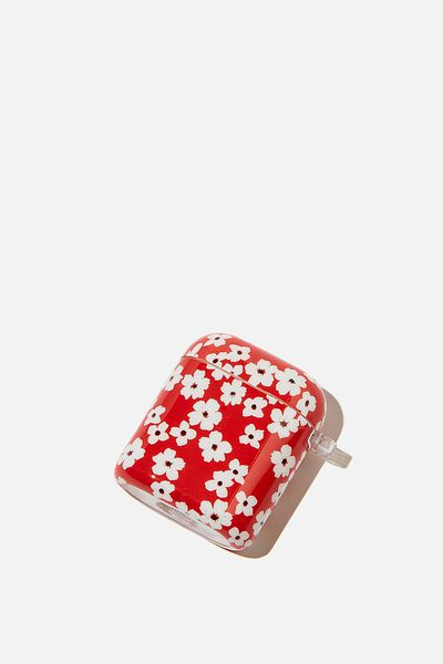 Premium Ear Bud Sleeve, TRUE RED CHERRY BLOSSOM
