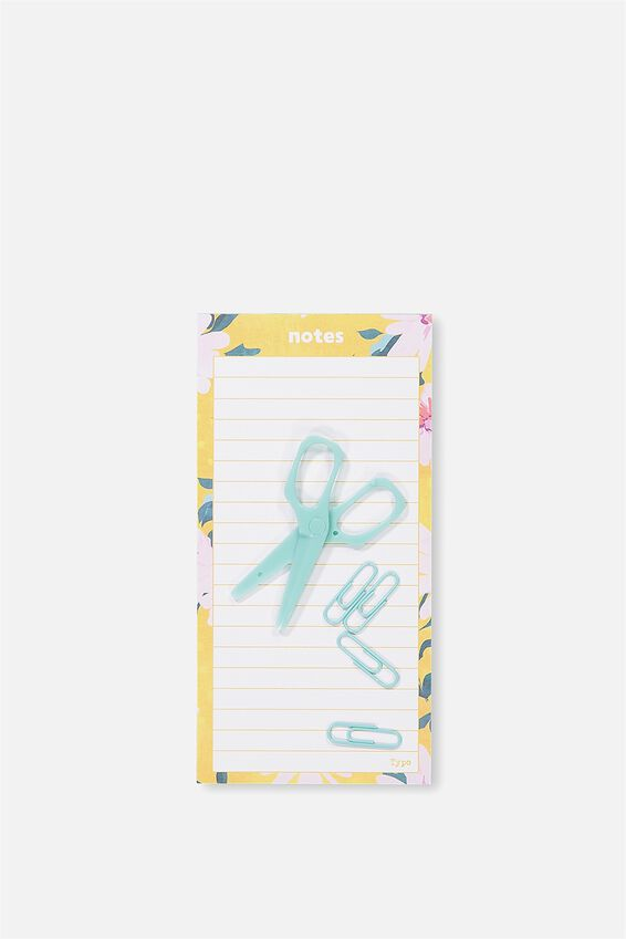 Make A List Note Pad, YELLOW DAISY NOTES