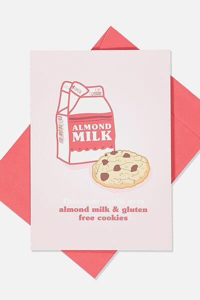 Christmas Card 2019, ALMOND MILK & COOKIES