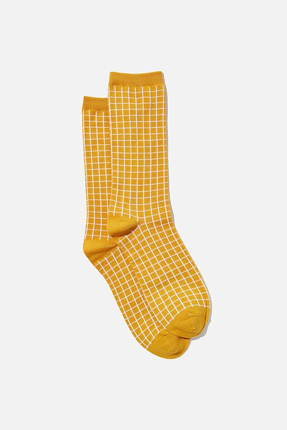 Socks, MUSTARD GRID