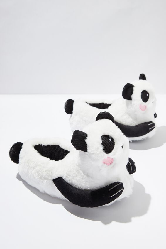 Novelty Slippers, FURRY PANDA