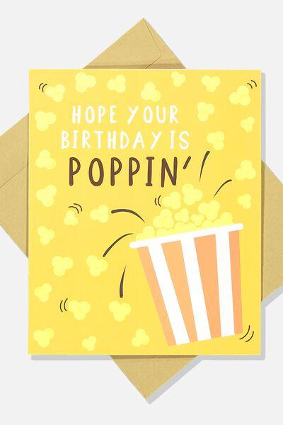 Nice Birthday Card HOPE YOUR BIRTHDAY IS POPPIN