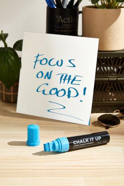 Chalk It Up Jumbo Chalk Marker, BLUE