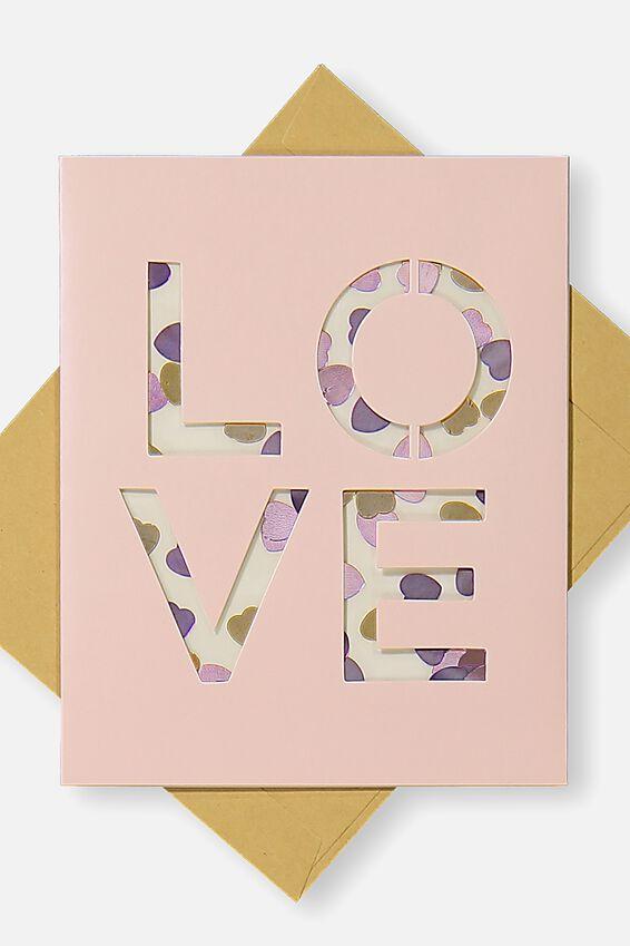 Premium Valentines Day Card 2018, LOVE CONFETTI