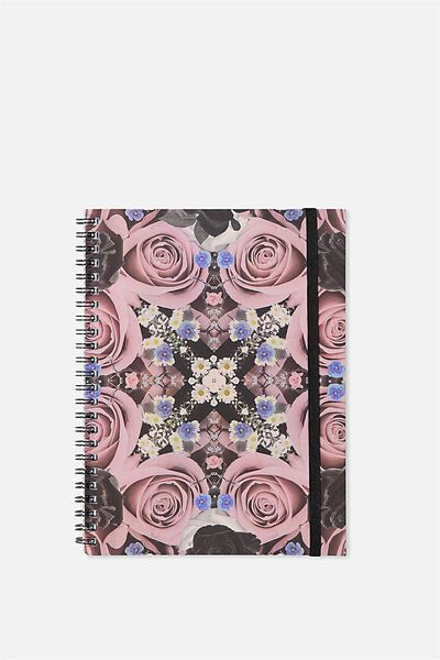 A5 Spinout Notebook - 120 Pages, REFLECTIVE FLORAL