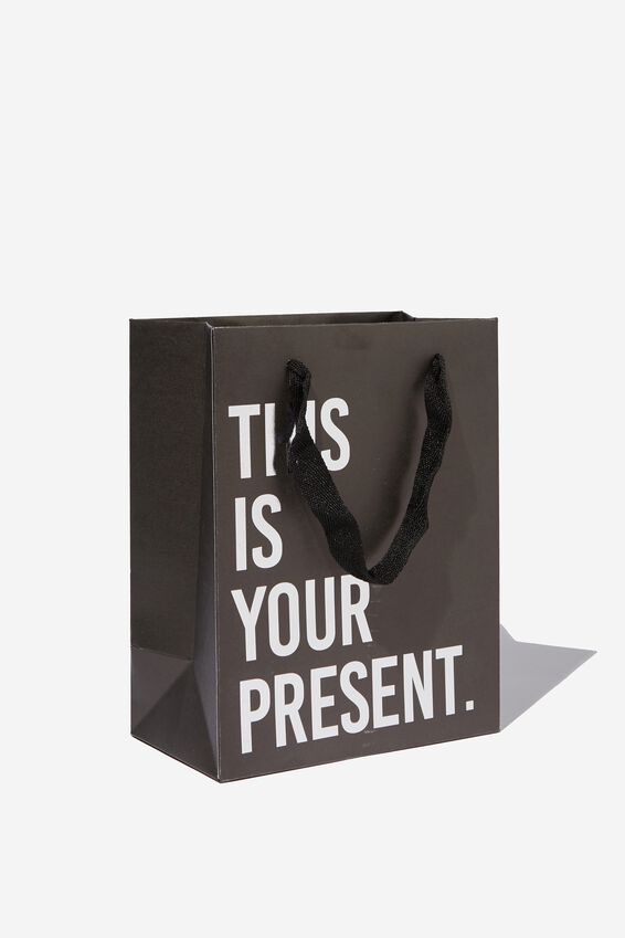 Stuff It Gift Bag - Small, SILVER THIS IS YOUR PRESENT