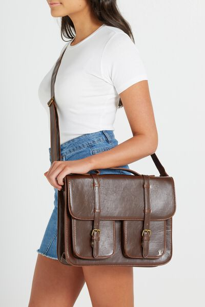 Buffalo Satchel Bag, VINTAGE TAN