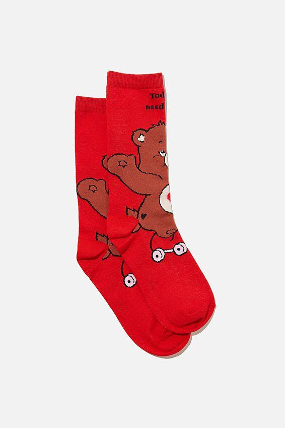 Care Bears Socks, LCN CLC CARE BEARS HUG BEAR