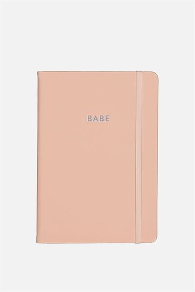 Personalised A5 Buffalo Journal, BLUSH