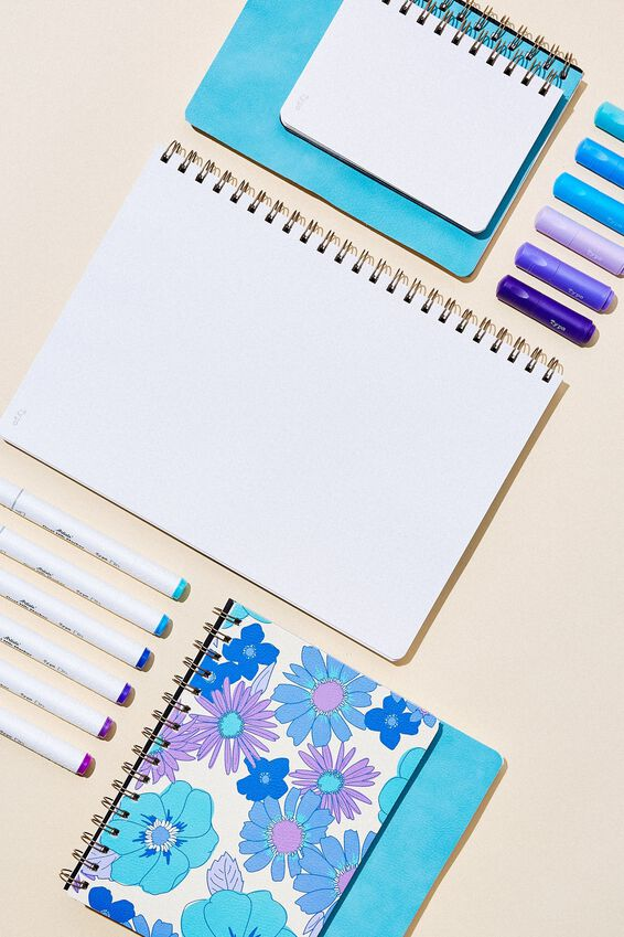 A5 Dot Daily Scribe Notebook, DUSTY TURQUOISE