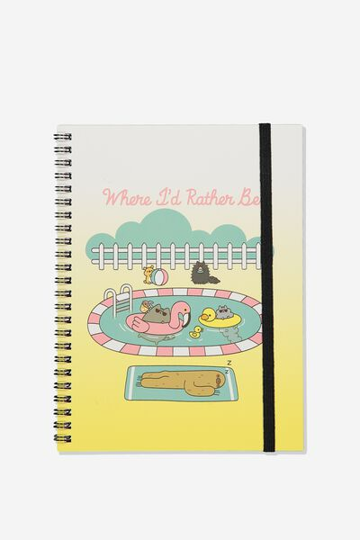 A5 Spinout Notebook Recycled, LCN PUSH PUSHEEN RATHER BE