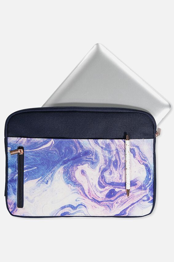 Take Charge Laptop Cover 13 inch, MERMAID MARBLE
