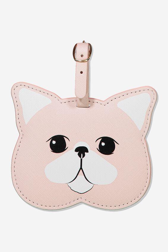 Shape Shifter Luggage Tag, BLUSH CAT