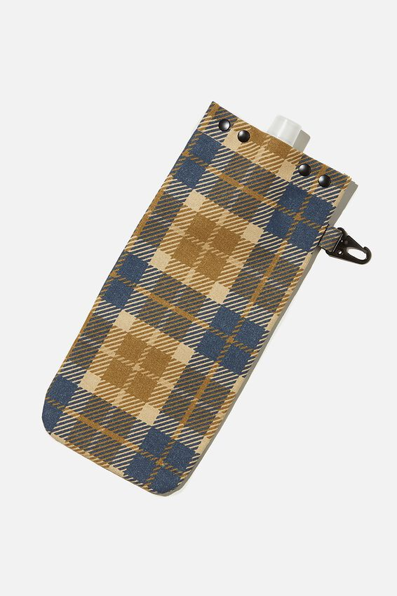 Drip Canvas Flask, URBAN CHECK