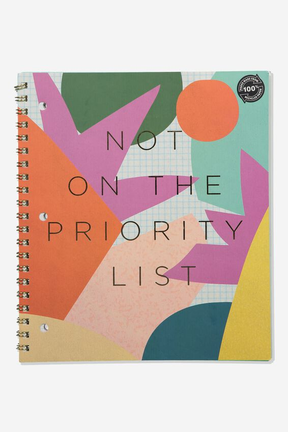 College Ruled Campus Notebook, PRIORITY LIST