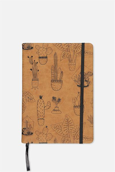 Medium Buffalo Journal, TAN CACTUS PLANTS