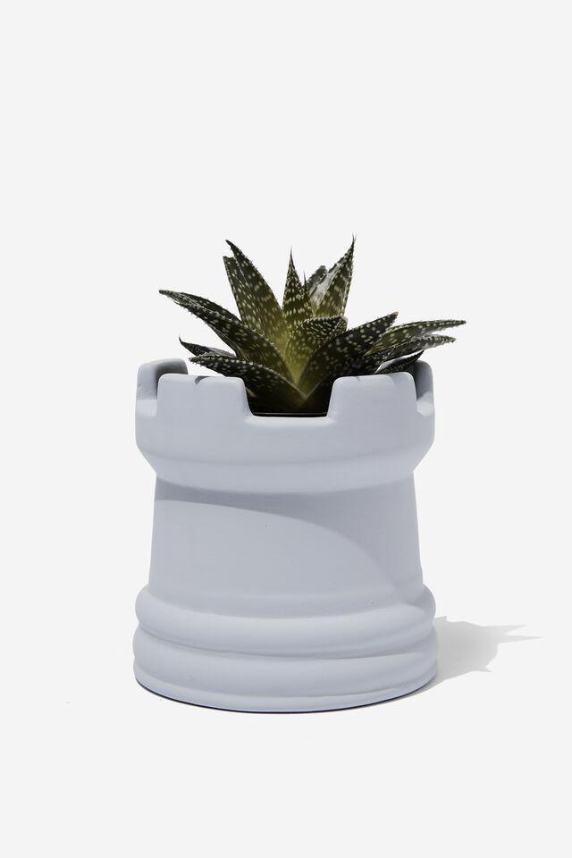 Midi Shaped Planter, PALE LILAC CHESS PIECE