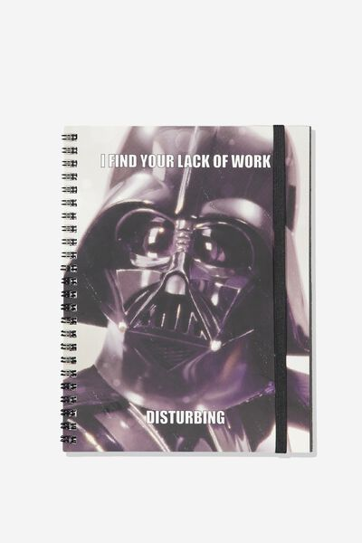 A5 Spinout Notebook - 120 Pages, LCN LU DARTH VADER