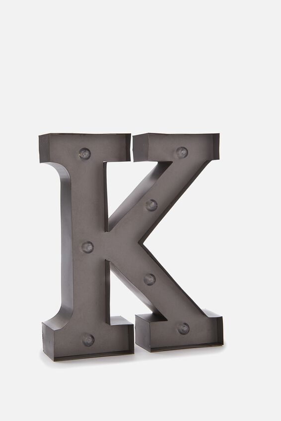 Midi Marquee Letter Lights 6.3inch, SILVER K