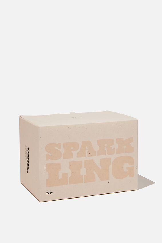 Large Block Candle, ECRU SPARKLING!