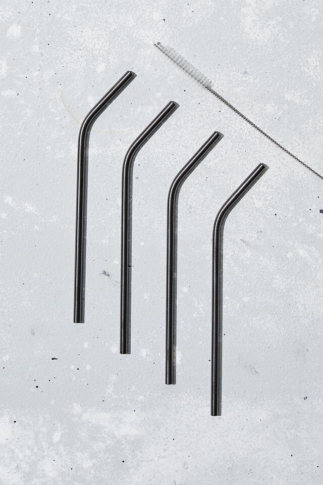 Stainless Steel Straw, BLACK