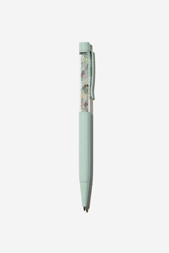 Gemstone Pen, LIGHT BLUE