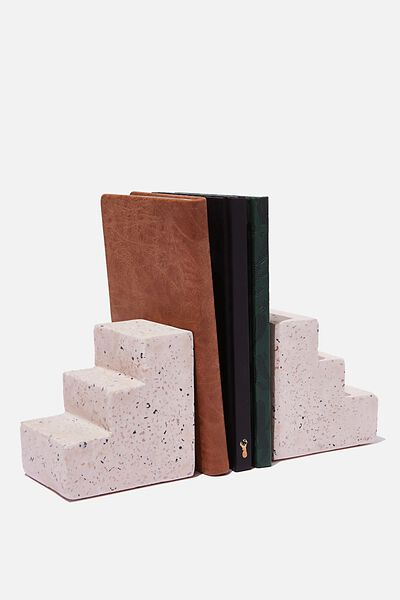 Cement Bookends, SPECKLED STAIRS