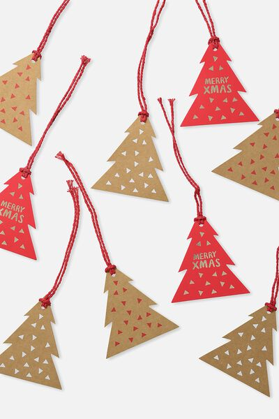 Gift Tag 9 Pack, CHRISTMAS TREES