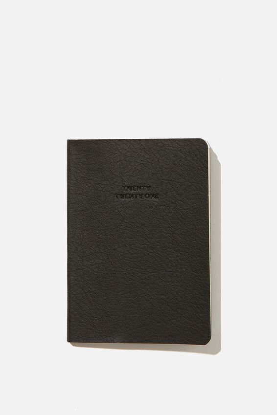 2021 Soft A6 Weekly Buffalo Diary, BLACK