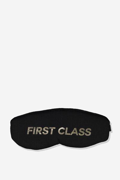 Total Block Out Eyemask, FIRST CLASS BLACK