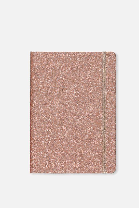 A5 Dot Buffalo Journal, ROSE GOLD GLITTER
