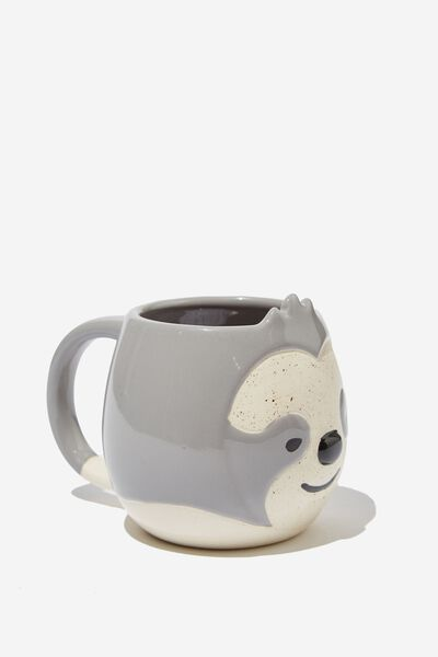 Novelty Shaped Mug, SLOTH DIPPED