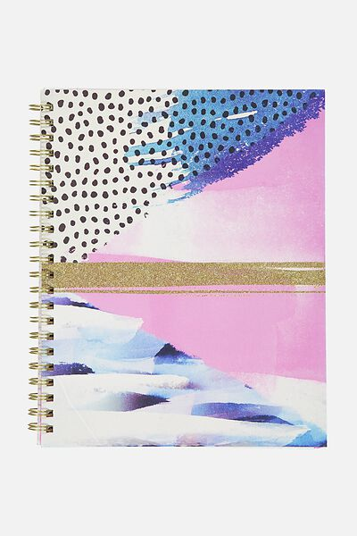 Large Campus Notebook - 240 Pages, GLITTER SPLICE COLLAGE