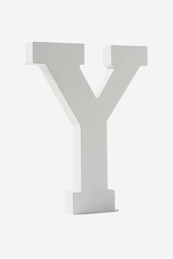 Letterpress Wooden Letter, WHITE Y