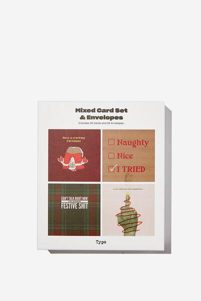 Christmas Card 20 Pack, CRACKING SANTA!