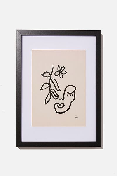 A4 Framed Print, FEM FACE