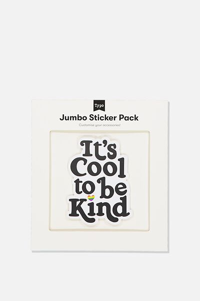 Jumbo Sticker, COOL TO BE KIND