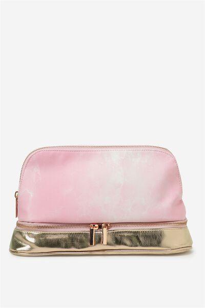 Cachet Wash Bag, ROSE GOLD & PINK MARBLE