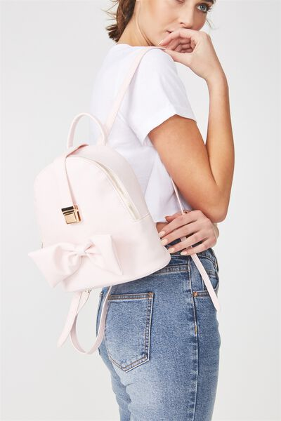 Buckle Backpack, BLUSH BOW