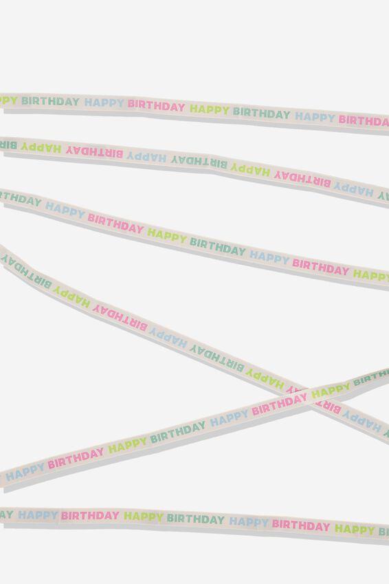 Printed Gift Ribbon, HAPPY BIRTHDAY RAINBOW
