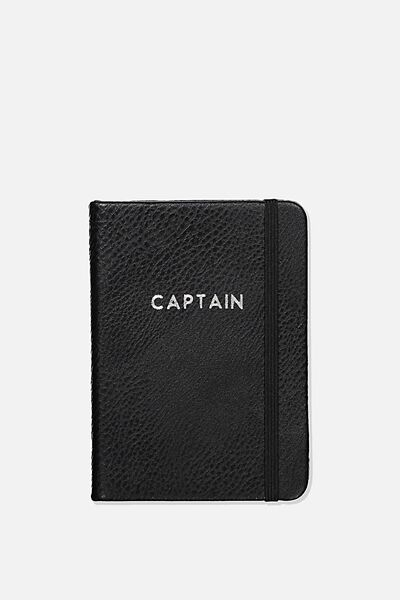 Personalised A6 Buffalo Journal, BLACK