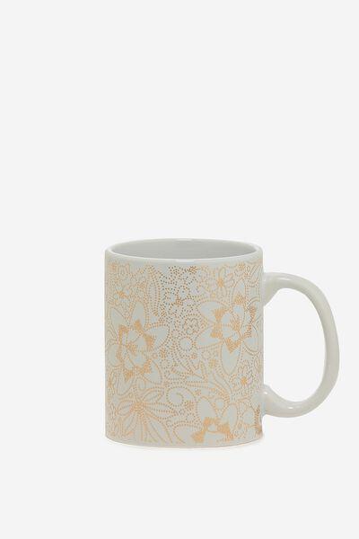 Anytime Mug, ROSE GOLD LACE