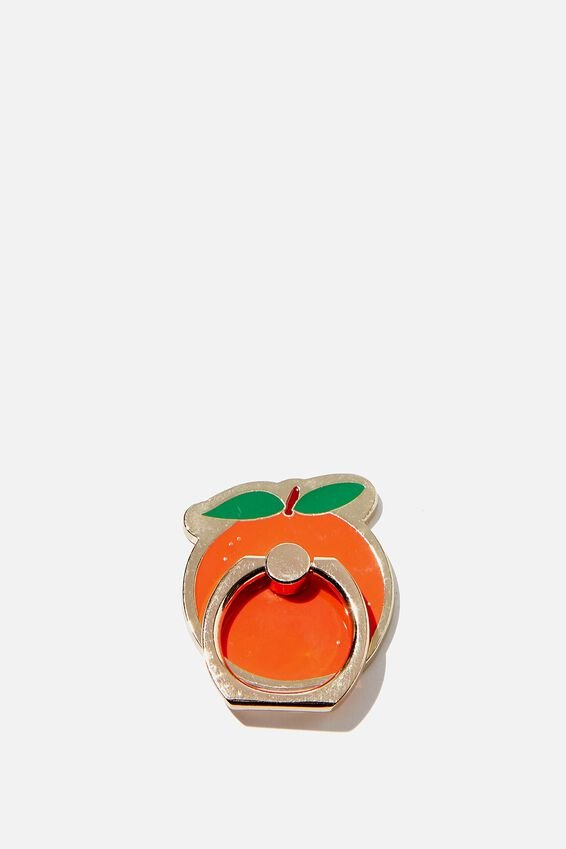 Enamel Phone Ring, PEACH