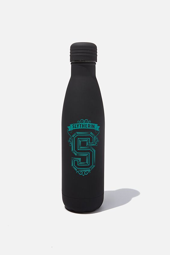 Premium Metal Drink Bottle, LCN WB HPO S FOR SLYTHERIN