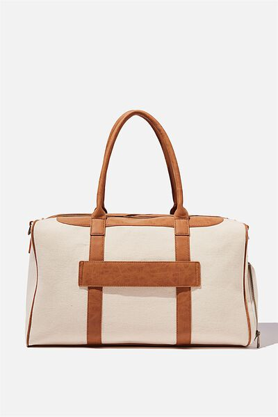 Nuevo Overnighter Bag Cvs, NATURAL AND MID TAN