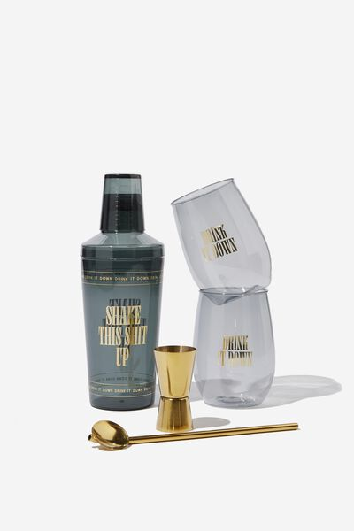 Cocktail Hour Shaker Set, SHAKE THIS UP!