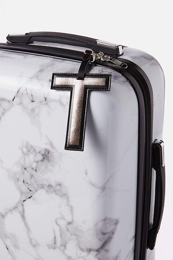 Shaped Alphabet Luggage Tag, T